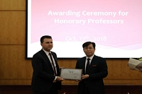 A TITLE OF HONORARY PROFESSOR REWARDED TO RECTOR OF THE UNIVERSITY OF NOVI SAD PROF. DR. DEJAN JAKŠIĆ