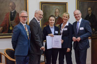 DR. JELENA VLADIĆ LAURATE OF DANUBIUS YOUNG SCIENTIST AWARD 2018